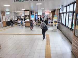 JR福島駅からの道順
