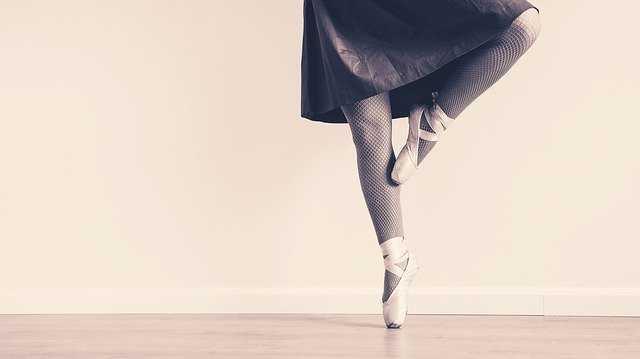バレエの足元
