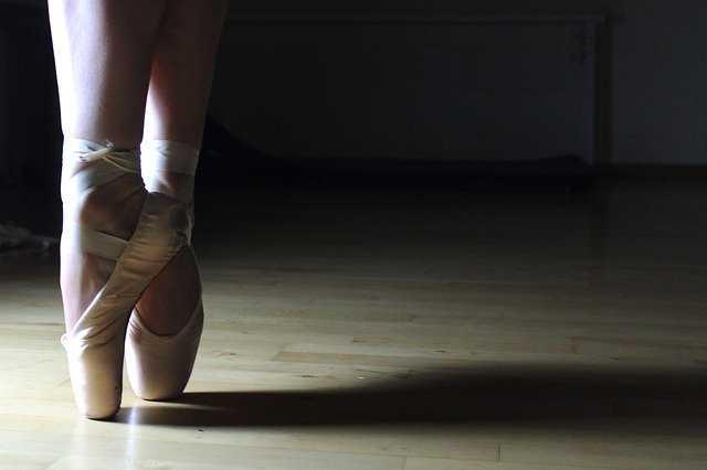バレエダンサーの足元