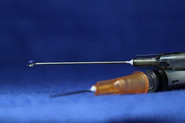 注射針の先端